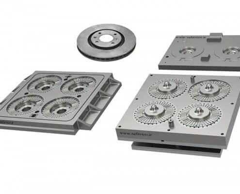 قطعه سازی - قالب ماهیچه دیسک ترمز هوا خنک سمند