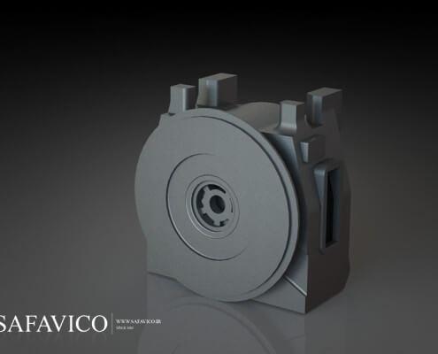 پوسته گیربکس توربوشارژ مربوط به لوکوموتیو - قالب سازی