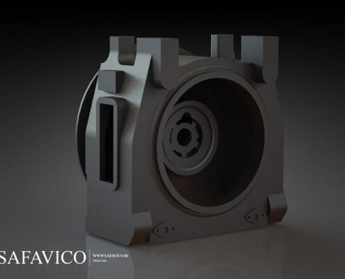 پوسته گیربکس توربوشارژ لوکوموتیو - قالب سازی