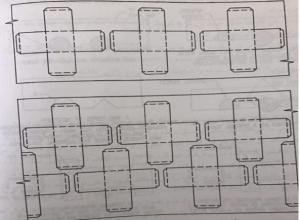 نحوه چیدمان در ابعاد ورق